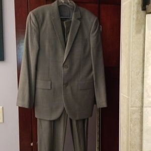 Express Mens charcoal suit